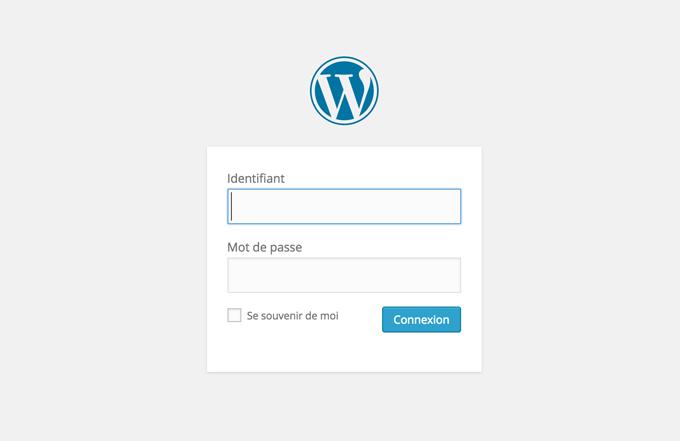 connexion wordpress