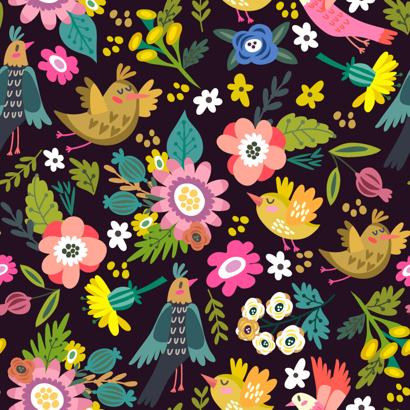 Dark_bright_spring_floral_pattern