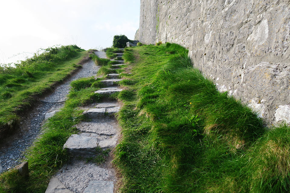 Dunguaire Castle stairs